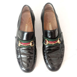 Gucci Vintage Horsebit Patent Leather Loafers 8.5